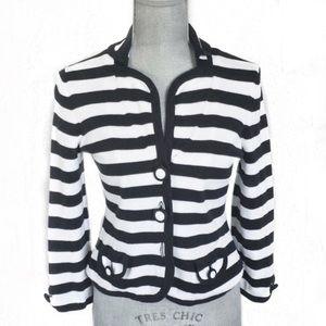Banana Republic Black & White Stripe Cardigan